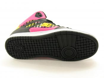 DC Shoes Rebound Hi Black-Yellow Ladies Footwear Trainer