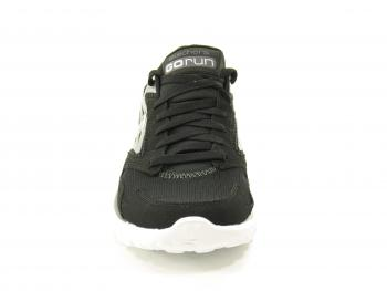 Skechers Go Run Black-Silver Ladies Footwear Trainer